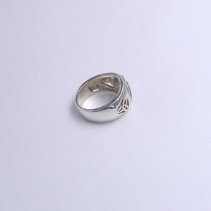 Men's Celtic Trinity Weave Sterling Silver 925 Ring