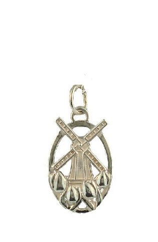 Tulip Windmill Sterling Silver Charm