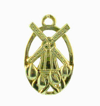 Tulip Windmill Charm 14K Gold from Warren Jewelers