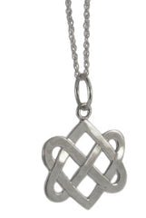 Neverending Hearts Pendant in Sterling Silver-Small