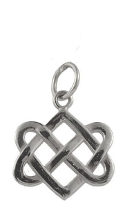 Neverending Hearts Charm in Sterling Silver-Large from Warren Jewelers