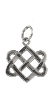 Neverending Hearts Charm in Sterling Silver-Small from Warren Jewelers