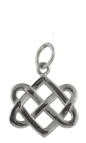 Neverending Hearts Charm in Sterling Silver-Small