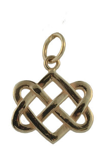 Neverending Hearts Charm in 14K Gold-Large from Warren Jewelers