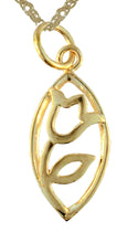 Pink Impressions Tulip Pendant 14K Gold from Warren Jewelers