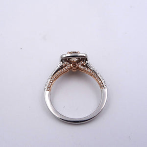 1.03ctw Pink Diamond and White Diamond Halo Engagement Wedding Ring