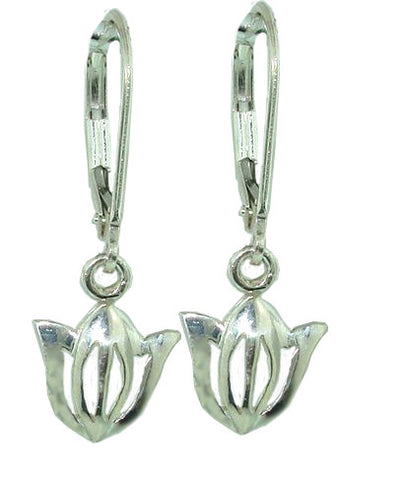 Rhapsody Tulip Earrings Sterling Silver