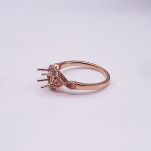 .05ctw White Gold Half Halo Ring Mounting