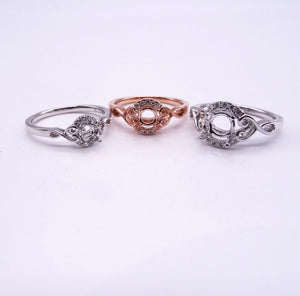 K Gold Diamond Half Halo Ring Mounting collection