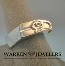 Seattle Seahawk Team Sport Sterling Silver Ring