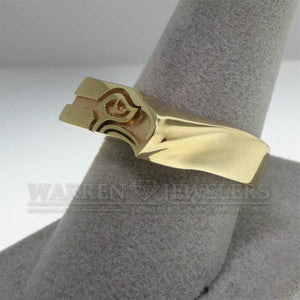 Seattle Seahawk Style Team Sport 14K Yellow Gold Ring
