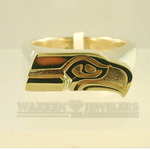 Seattle Seahawks 14K and Sterling Silver Ring