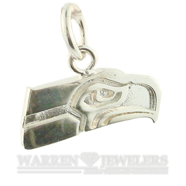 Seattle Seahawk Sterling Silver Charm