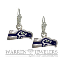 Seattle Seahawk Sterling Silver Team Sport Earrings