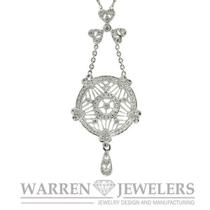 1/2 ctw Fancy Filigree Diamond Necklace