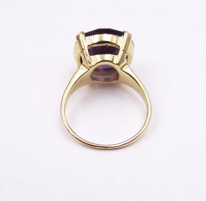 Vintage Synthetic Alexandrite Estate Ring 14K Yellow Gold