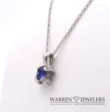 Tanzanite and Diamond Necklace in White Gold