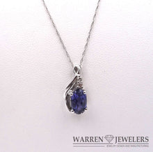 Tanzanite and Diamond Necklace in 14K White Gold 1.44ct