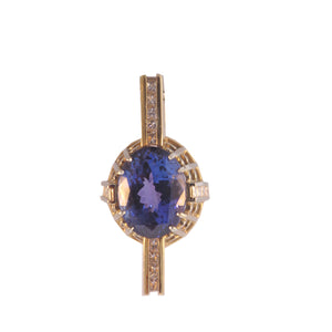 9.00ct Tanzanite and Diamond Necklace