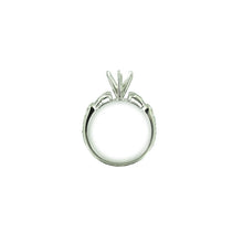 Ladies Engagement Wedding Ring Mounting 18K White Gold