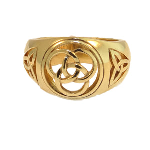 14k Yellow Gold Celtic Mens Ring