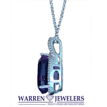 5.65ct Amethyst and Diamond Necklace