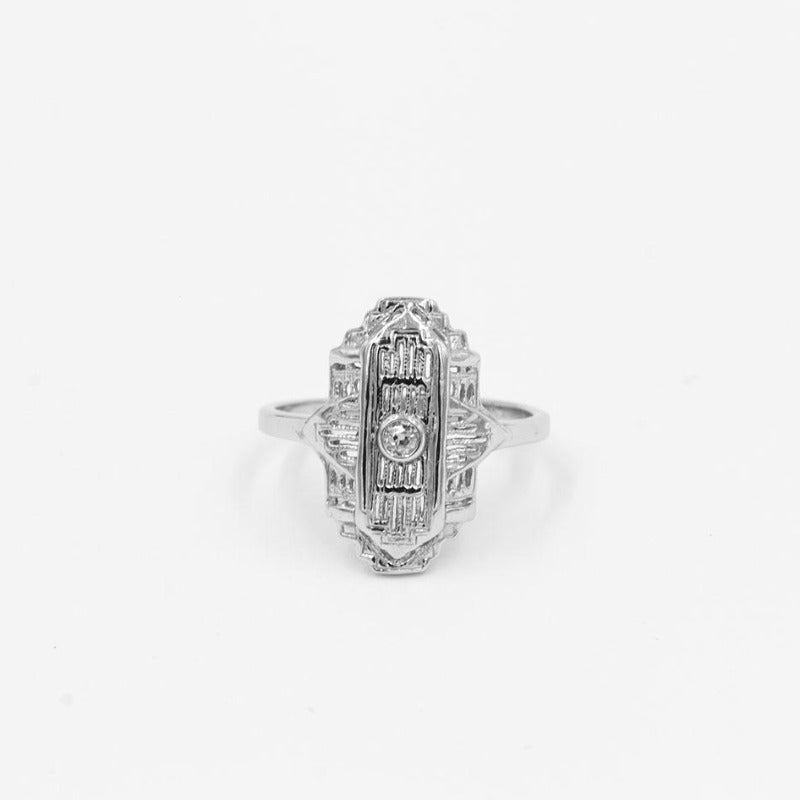 Vintage .05ct Old Mine Cut diamond Ring