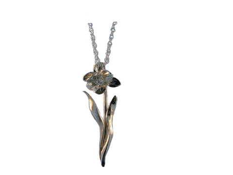 Daffodil Sterling Silver Pendant