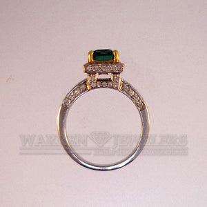1.30ct Emerald and Diamond Ring - Warren Jewelers