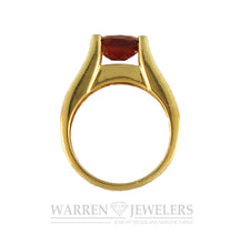 Garnet and Citrine Ring in Yellow Gold