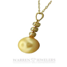 Golden Pearl and Diamond Necklace