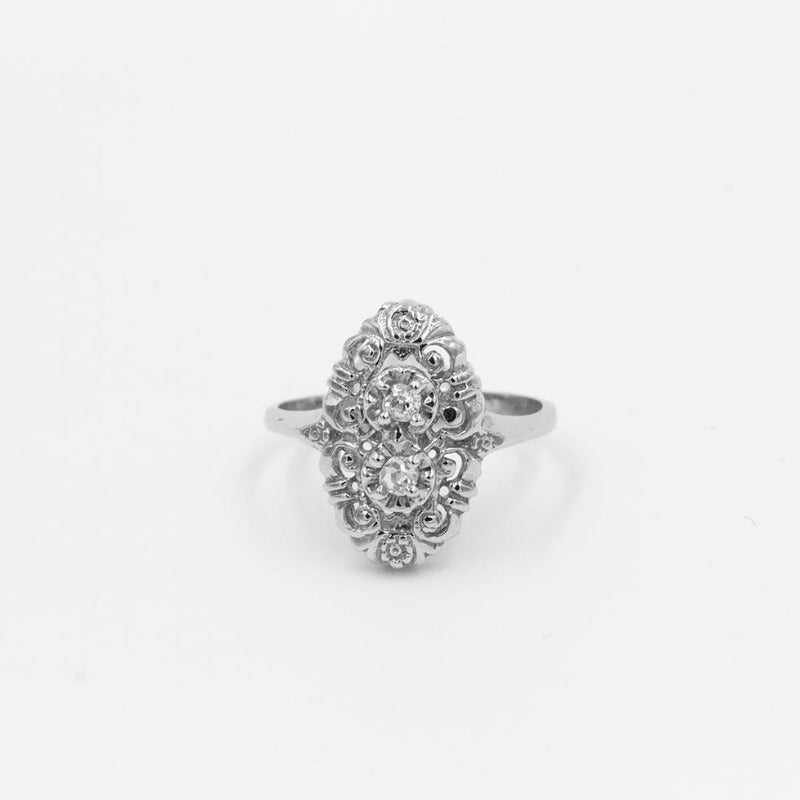 Vintage .16ctw Old Mine Cut Diamond Ring