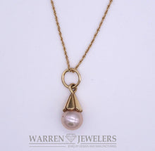 Cultured Pink Pearl Necklace