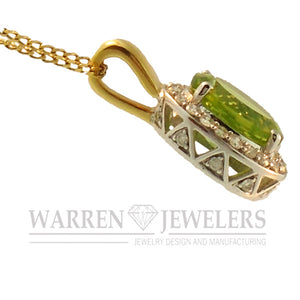 Peridot and Diamond Necklace