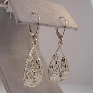 Two Swans Tulip Earrings