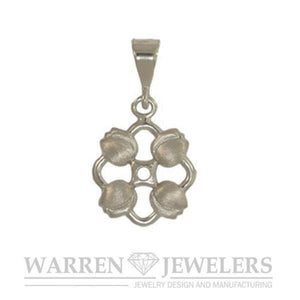 Floral Garden Party Tulip Charm 14K Gold and Sterling Silver