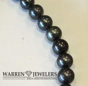 Tahitian Black Pearl Strand 19 inches