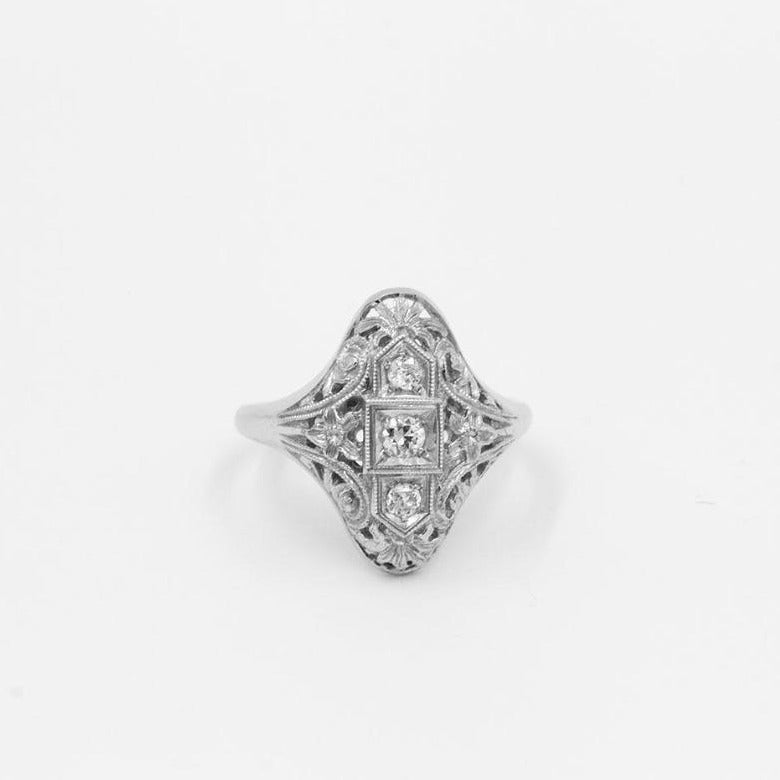 Vintage .15ct Old European Cut diamond Ring
