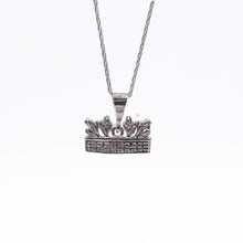 Tulip Basket Necklace Sterling Silver