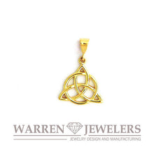 Celtic Trinity with Circle of Unity Charm In 14K Gold