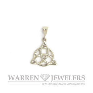 Celtic Trinity with Circle of Unity Charm In Sterling Silver