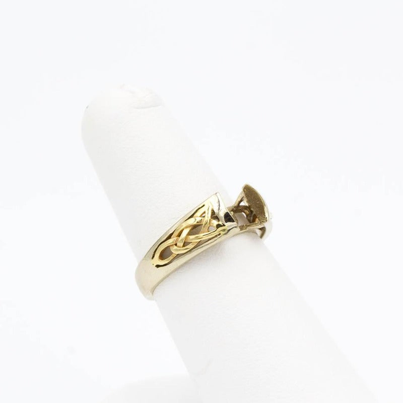14k White and Yellow Gold Celtic Ring Mounting