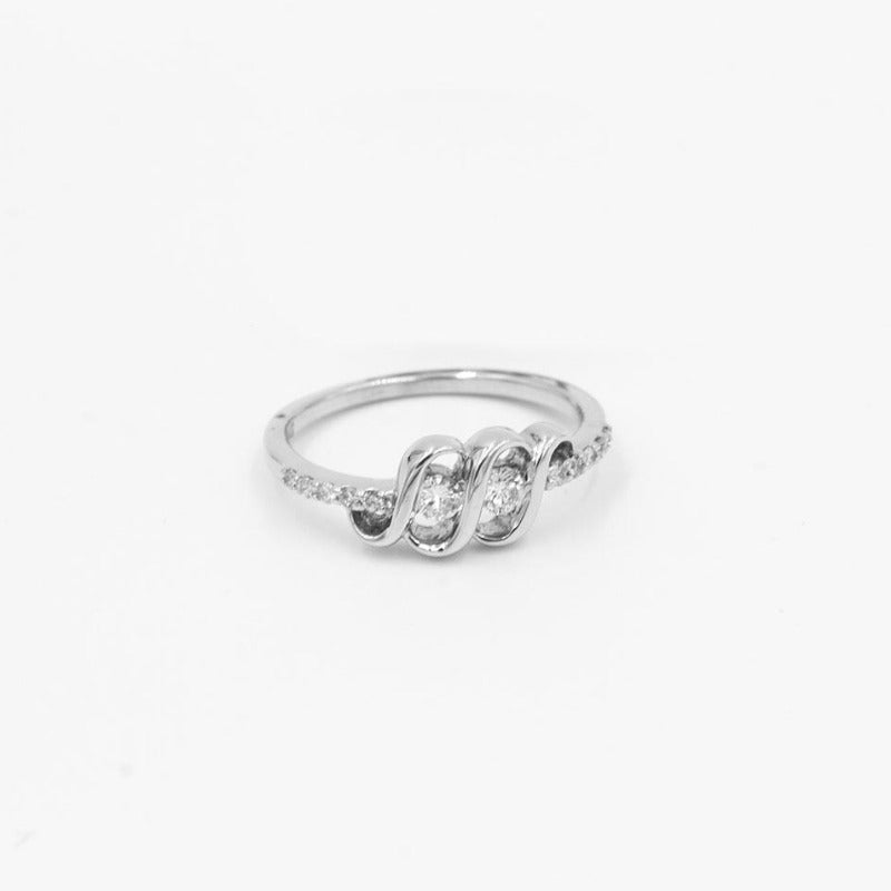 2-stone Diamond 14K White Gold Diamond Ring