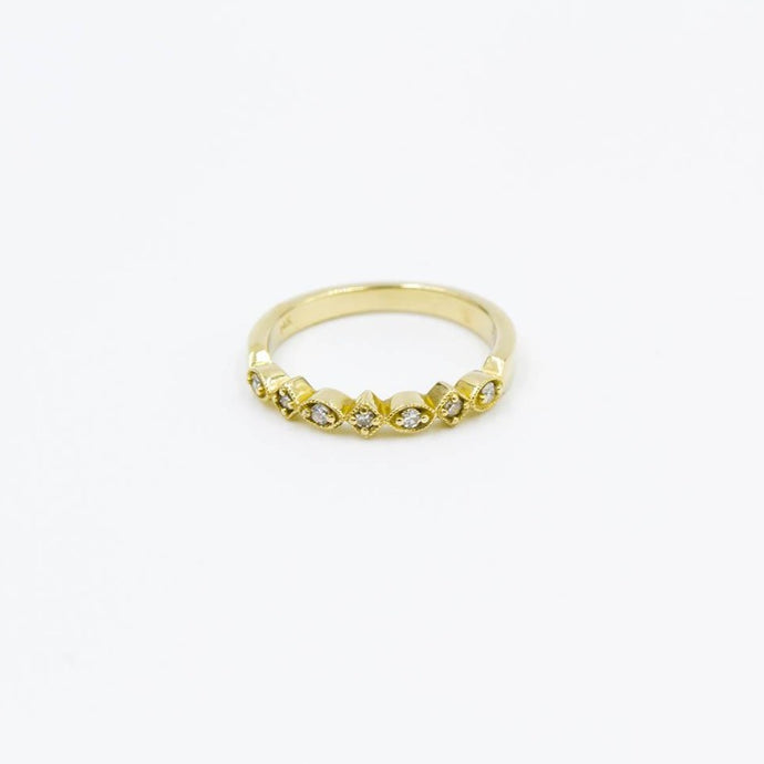 Diamond Stackable Ring 14K Yellow Gold .11ctw