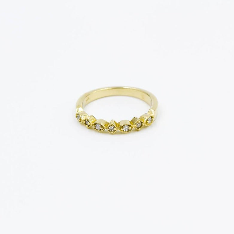 .11ctw Yellow Gold Stackable Diamond Band