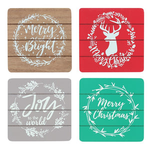 Christmas House Coaster Set
