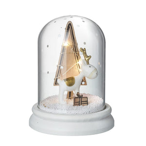 Christmas Light up snow dome with cute reindeer/deer decoration - home decor