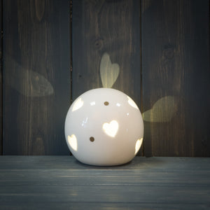 LED Ceramic Heart Ball 9cm