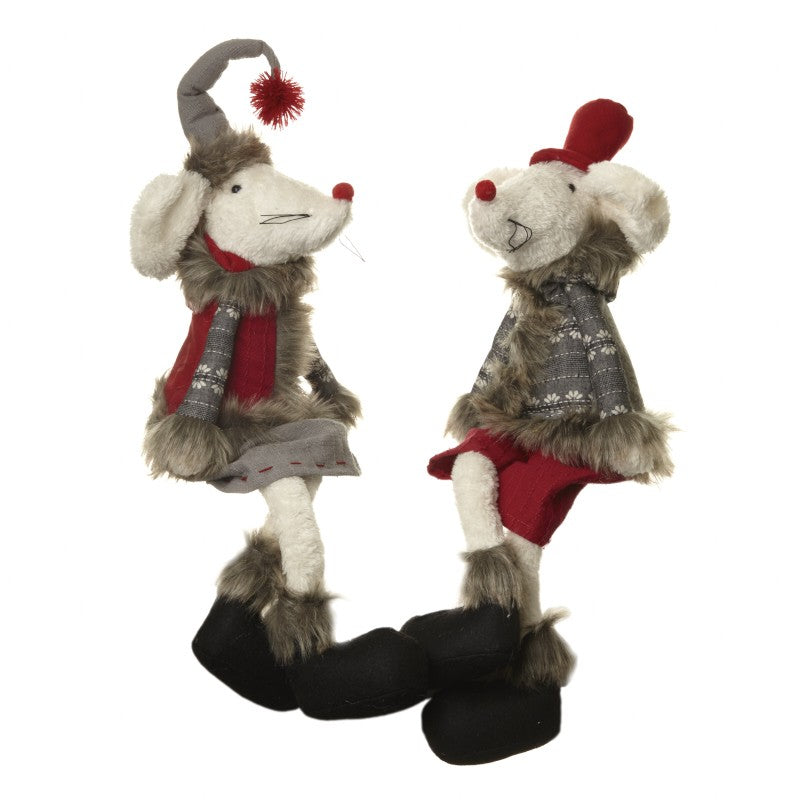Christmas Fabric Sitting Boy/Girl Mouse