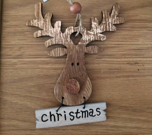 Christmas reindeer rustic copper tree decoration/wall hanging from Heaven Sends